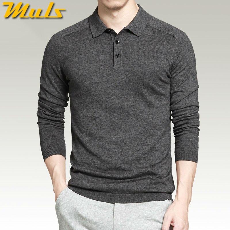 Image 2 - 8 видов цветов мужские свитера polo, простой стиль, Хлопковые  вязаные пуловеры с длинным рукавом, большой размер 3XL 4XL, весенне  осенние свитера MS16005sweater womensweater scarfsweater skirt -