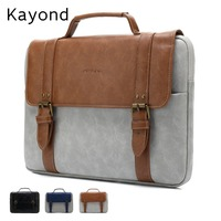 2019 Newest Brand Kayond Leather Handbag Bag For Laptop 13,14,15,15.6 inch,Case For MacBook Air,Pro 13.3,15.4,Free Shipping