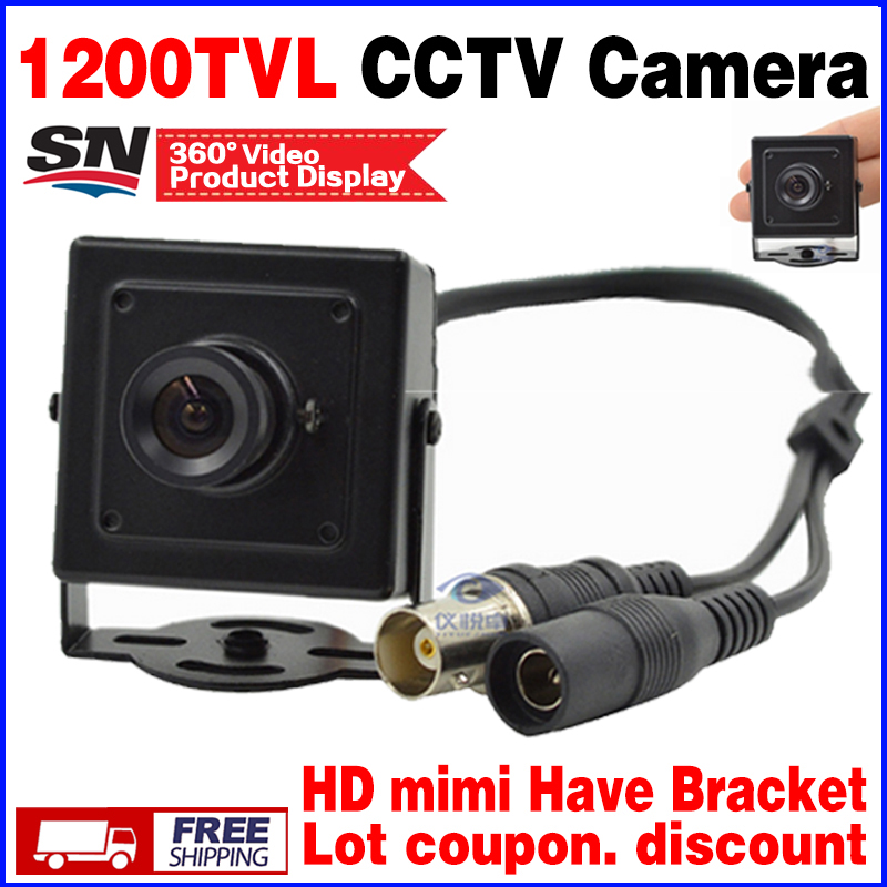 17hot Metal Mini Hd 1/3cmos Real 1200TVL Cctv MINI Camera  3.6mm LENS Security Surveillance Color INdoor Home Video have Bracket недорого