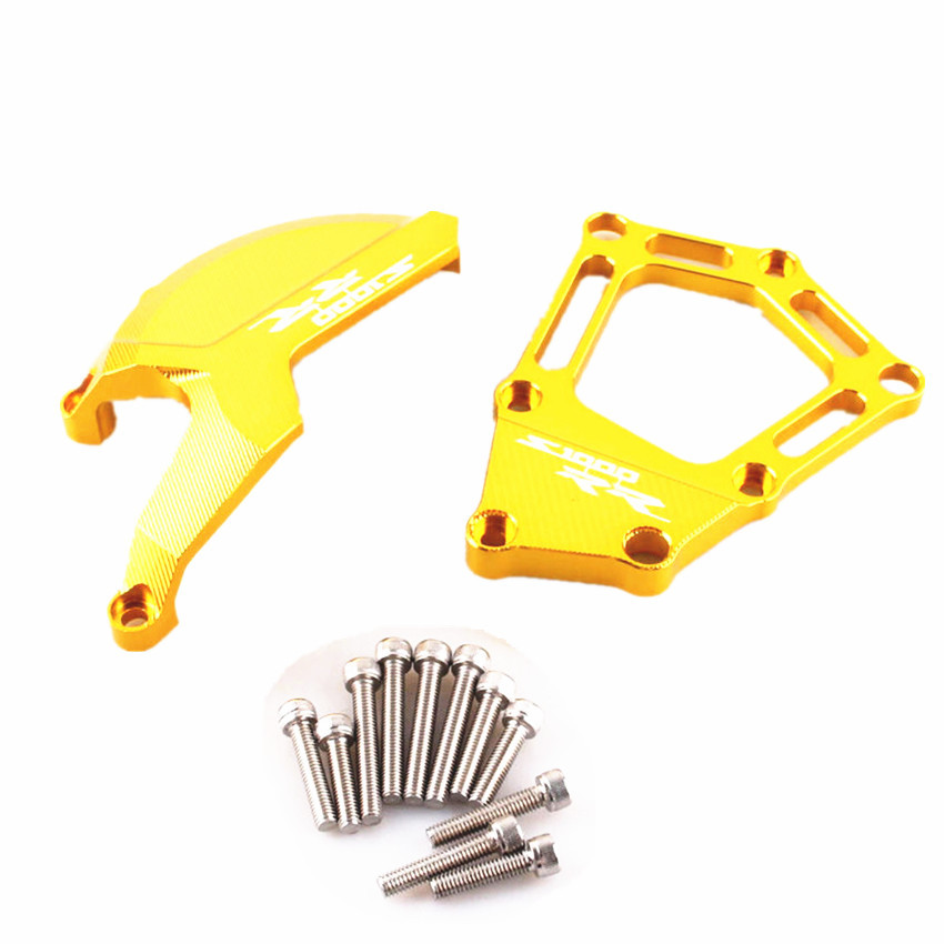 For BMW S1000RR S 1000 RR 2009-2014 Engine Saver Stator Case Guard Cover Slider Protector Gold Motorcycle Accessories arashi motorcycle radiator grille protective cover grill guard protector for 2008 2009 2010 2011 honda cbr1000rr cbr 1000 rr