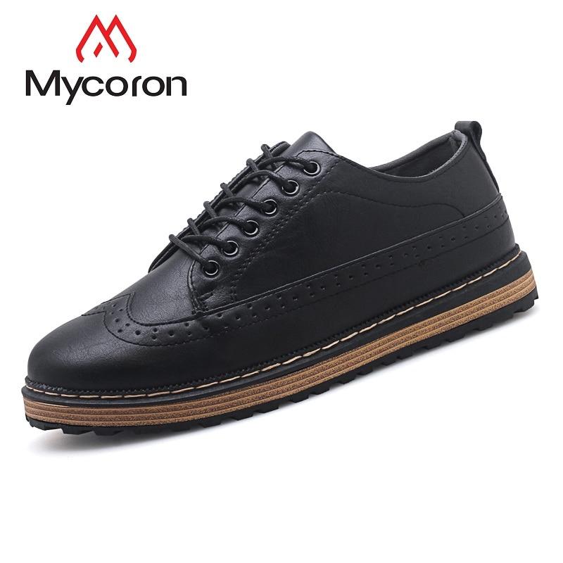 brown Sapatos Formais Couro Cinza Preto Homens Quente Pria Masculinos Moda 2019 Sepatu Macios Marrom Luxo Preto gray Venda Lazer De Mycoron xqSHACw