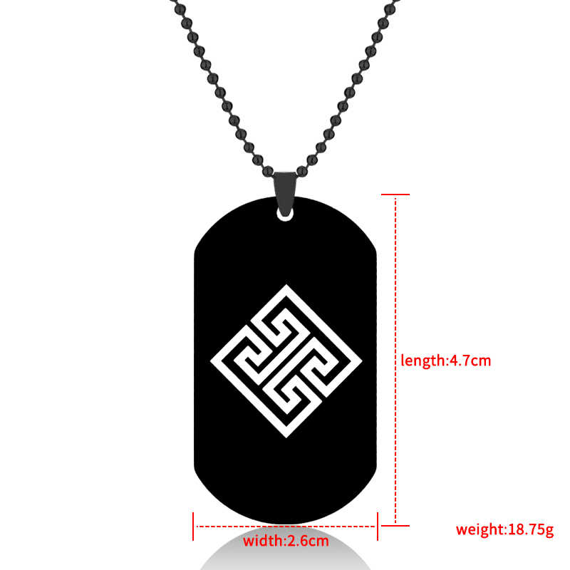 Hot Game Assassins Creed Dog Tags Pendant Necklace Fashion Ball Chain Stainless Steel Statement Jewelry Gift For Fans Man