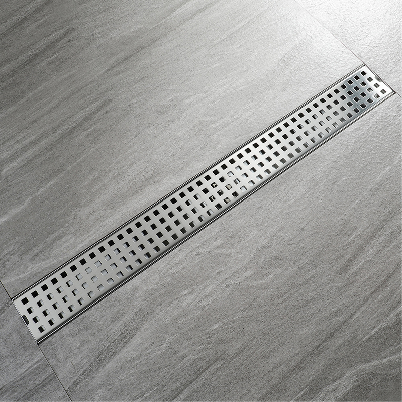Bathroom Floor Drain 60cm 80cm 100cm Stainless Steel Deodorization  Shower Drains Brushed 304sus  Long Drainer