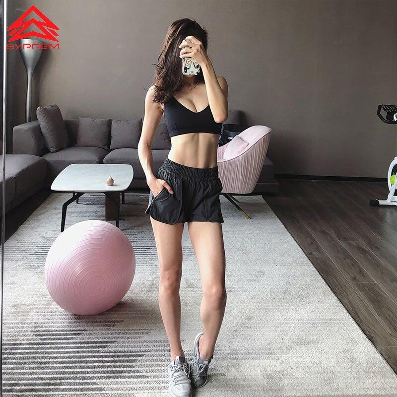 SYPREM Women Running Shorts Sports Breathable Black yoga Short Leggings Slim Mesh Design Sportswear Girls Dancing Shorts,DK80103