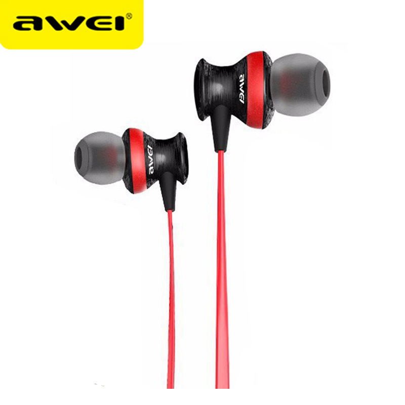 Awei ES-980HI Headphone With Microphone Stereo Earphone Super Bass Headset fone de ouvido Ecouteur Earphone For Phones awei stereo earphones headset wireless bluetooth earphone with microphone cuffia fone de ouvido for xiaomi iphone htc samsung