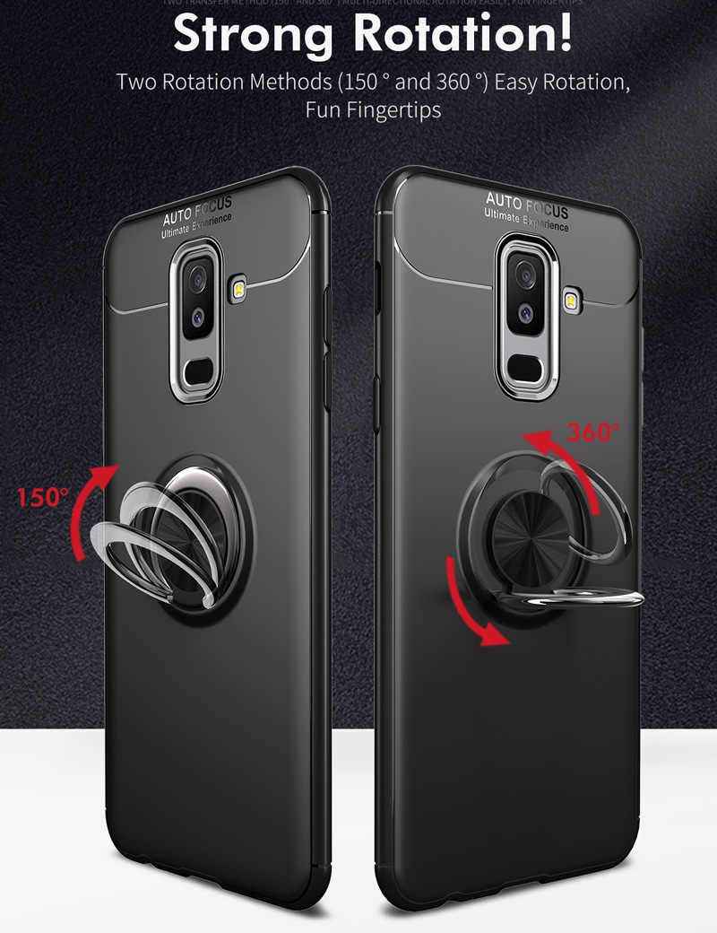 best website 13111 34a41 Magnetic Case For Samsung Galaxy A6 Plus A6+ 2018 absorb On Car Air vent  Holder Bracket Soft TPU Ring Holder Finger Grip Cover