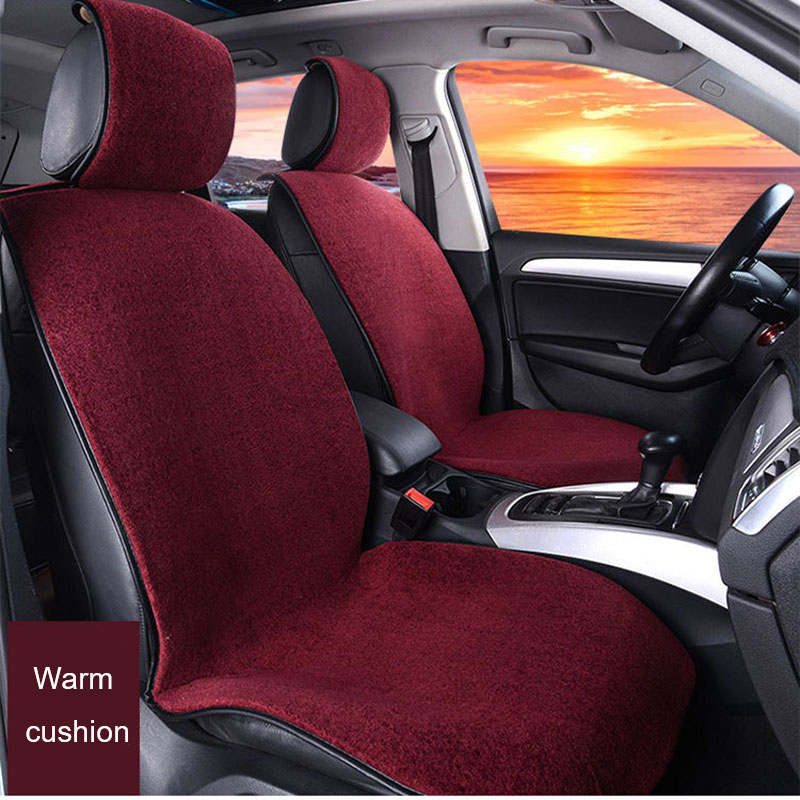 Online Shop 1 PC Artificial Cashmere Auto Seat Cover Pad Warm O SHI CAR Winter Car Cushion Comfortable Non Inverted Velvet Cloak