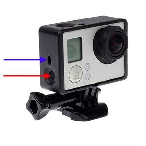 Image 4 - Für GoPro Zubehör GoPro Hero 4 3 + 3 Schutzhülle Grenze Rahmen Fall Camcorder Gehäuse Case Für Go Pro Hero4 3 + 3 Action Kamera