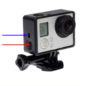 Image 4 - Gopro 액세서리 용 gopro hero 4 3 + 3 보호용 테두리 프레임 케이스 go pro hero4 용 캠코더 하우징 케이스 3 + 3 액션 카메라