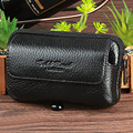 Genuine Real Leather Cell/Mobile Phone Case Cover Skin Belt Waist Bag Men Casual Vintage First Layer Cowhide Hip Bum Fanny Pack