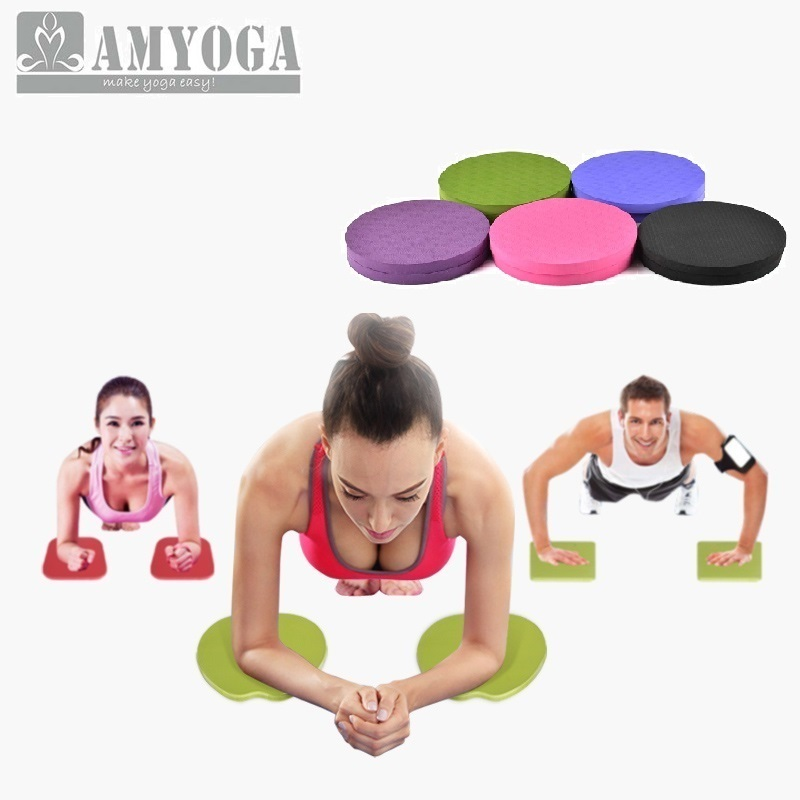 Yoga Knee Pad Fitness Body Building Pad Elbow pads Disc Yoga Mat Protective Pad Protective Joint Cushion in Elbow Knee Pads from Sports Entertainment