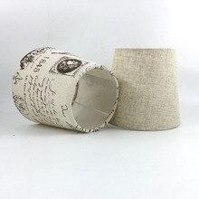2 шт. диаметр 15,5 см ПВХ и ткани абажуры, E14