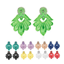 KPacTa New Ethnic Handmade Earrings Jewelry Female Crystal Decoration Soutache Drop Earring Oorbellen Women Gift