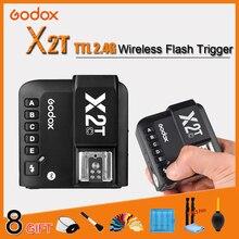 цена Godox X2T-C X2T-N X2T-S X2T-F X2T-O 2.4G Wireless TTL 1/8000s Flash Trigger Transmitter HSS for Canon Nikon Sony Fuji Olympus онлайн в 2017 году