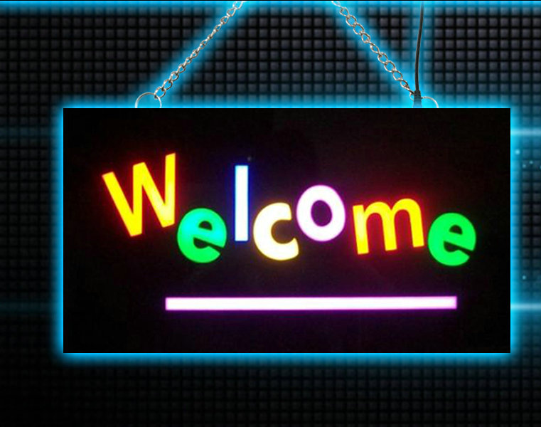 Waterproof Welcome neon sign board for bar shop LED Resin Epoxy light box  for home decoration Remote control on/off switch led066 р продажа скидкой магазин led neon sign whiteboard оптовые dropshipping