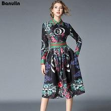 Banulin Nuevo 2018 vestido elegante de verano de diseñador de pasarela de  moda para mujer ba3a83391bf4