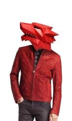 Máscara de papel 3d moda lobisomem animal traje cosplay diy papel ofício modelo máscara natal dia das bruxas baile de formatura festa presente
