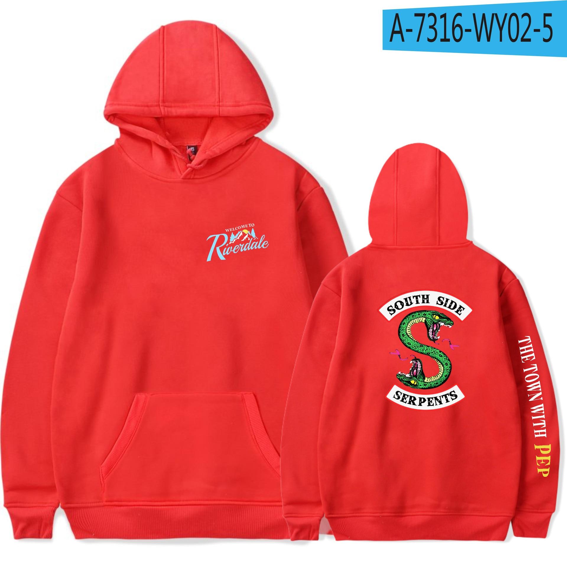 BTS Riverdale Hooded Sweatshirt Men Women Long Sleeve Fashion Hoodies Sweatshirt Casual Pink Hoodies Plus Size Pullover XXS-4XL