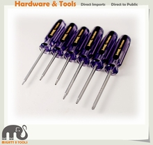 6pc Torx /Tamperproof Star Driver Set Torx Key Set:T9,T10H,T15H,T20H,T25H,T30H Screwdriver
