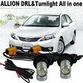 2X Super cool Car LED light  For T.O.Y.O.T.A  Allion 2001-2015 LED DRL Daytime Running Lights &Front Turn Signals  All In One