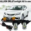 2X Super cool Car LED luz Para T.O.Y.O.T.A Allion 2001-2015 LED DRL Daytime Running Lights & Frente Sinais de Volta Tudo Em um