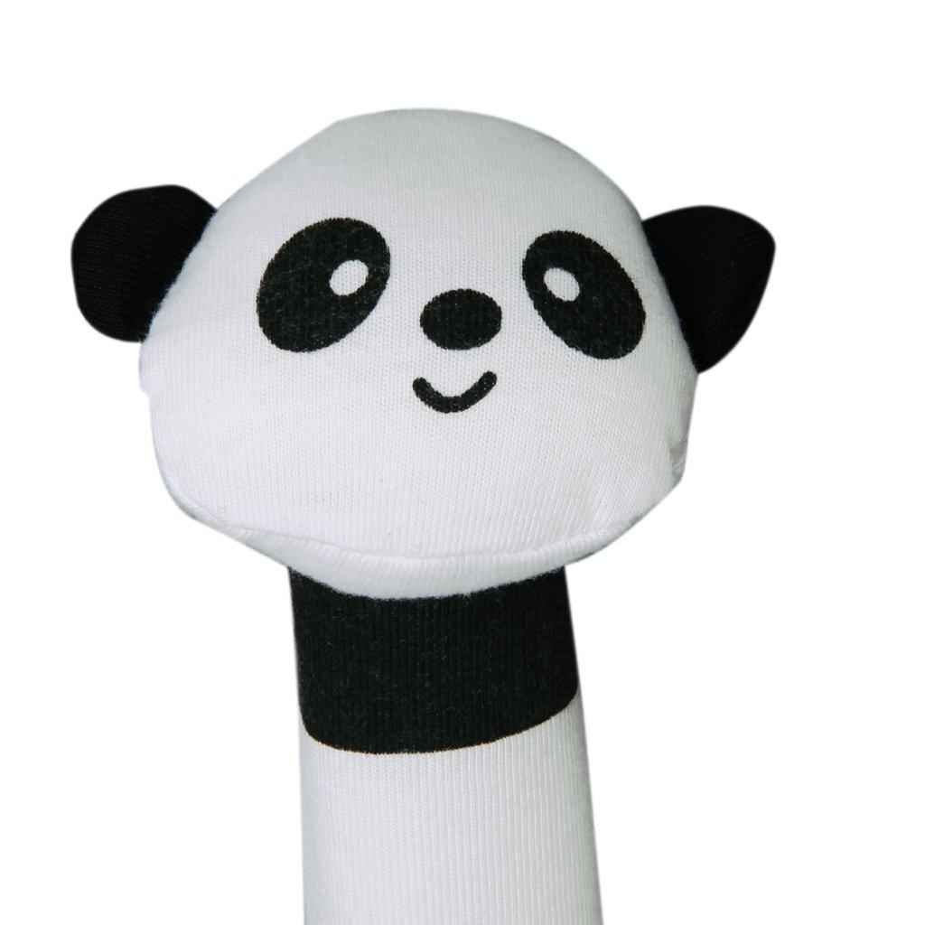MACH shape Panda Fabric squealing sound bar Baby play toys