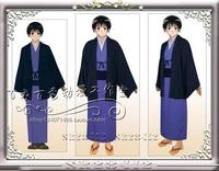 Free Shipping!Anime Axis Powers cosplay Hetalia cosplay Hetalia Japan Honda Kiku Cosplay Japan Kimono/Samurai Any Size Full Set
