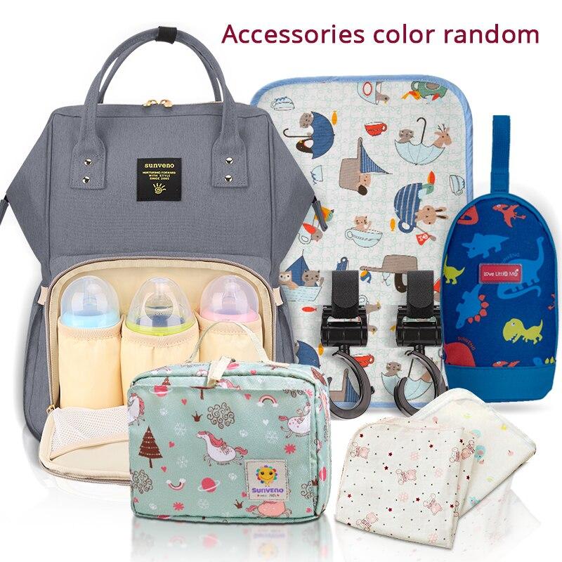 SUNVENO Mommy Diaper Bag Large Capacity Baby Nappy Bag Designer Nursing Bag Fashion Travel Backpack Baby