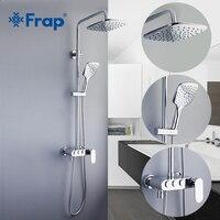 Frap Ванная комната Осадки смеситель для душа набор Пресс для переключения воды режим смесителя Насадки для душа Ванна Настенные хромированн