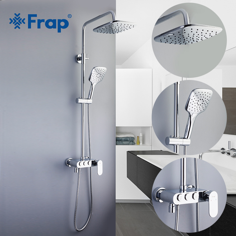 Back To Search Resultshome Improvement Frap Shower Faucets White Bathroom Shower Faucet Bath Shower Mixer Tap Faucet Rainfall Shower Panel Set Basin Faucet Mixer Tap Shower Equipment