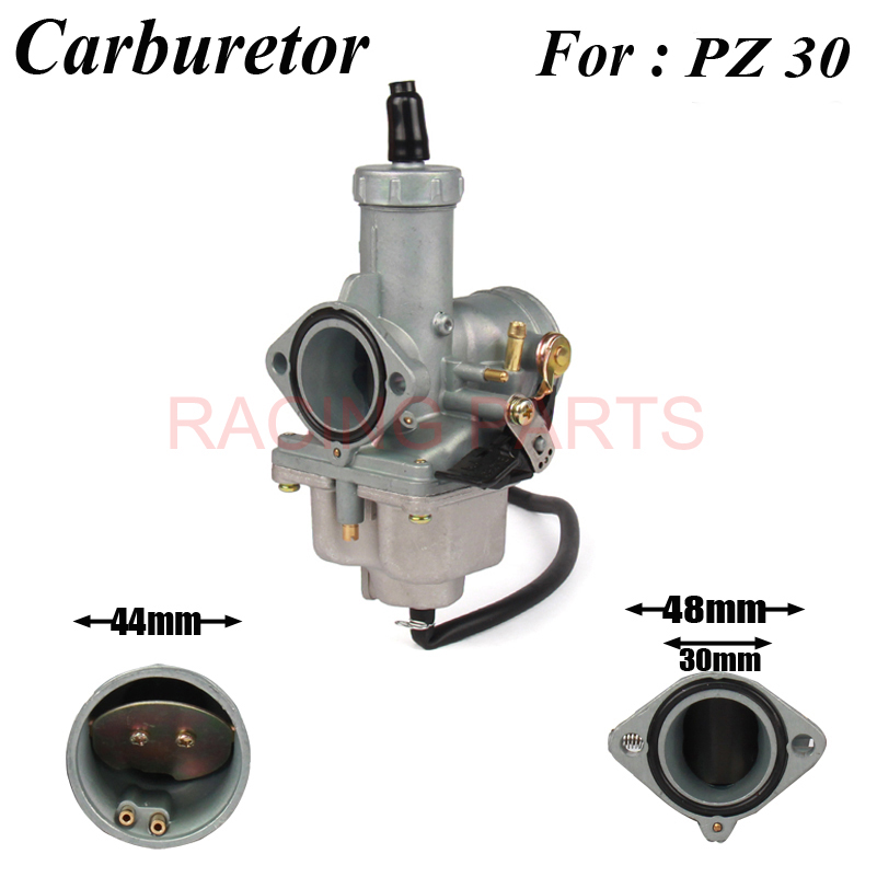 Motorcycle 30mm PZ30 Carburetor Carb For 175cc 200cc 250cc ATV Quad Dirt Bike Go Kart Buggy in Engine Cooling Accessories from Automobiles Motorcycles