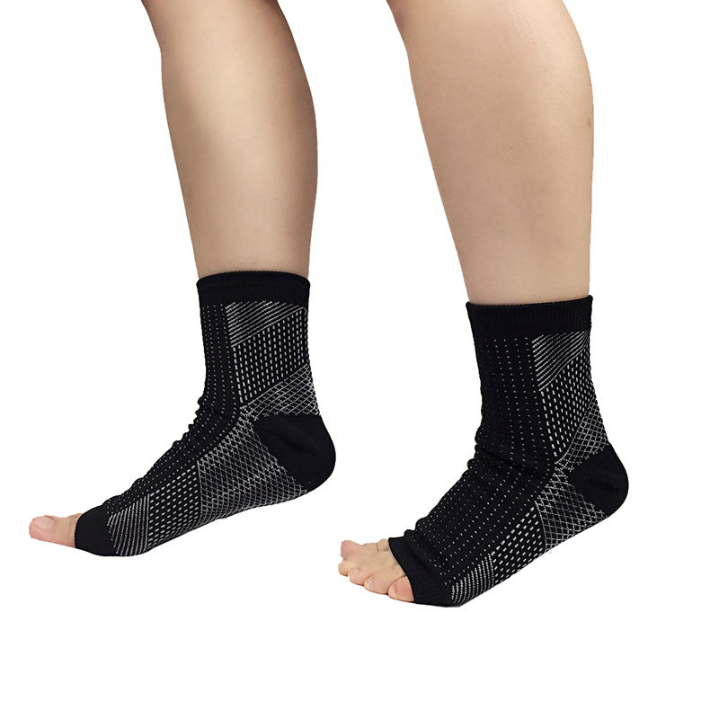 1Pair Unisex Foot Ankle Compression Socks Varicose Sleeve Anti Fatigue Relief