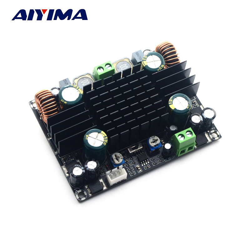 Aiyima TPA3116D2 Subwoofer Amplifier Board Amplificador High Power Pure Bass Car Amplifiers BTL150W DC12V-24V 150w pure tone bass amplifier board high power 12v toshiba 8 12 inch subwoofer core tube vehicle