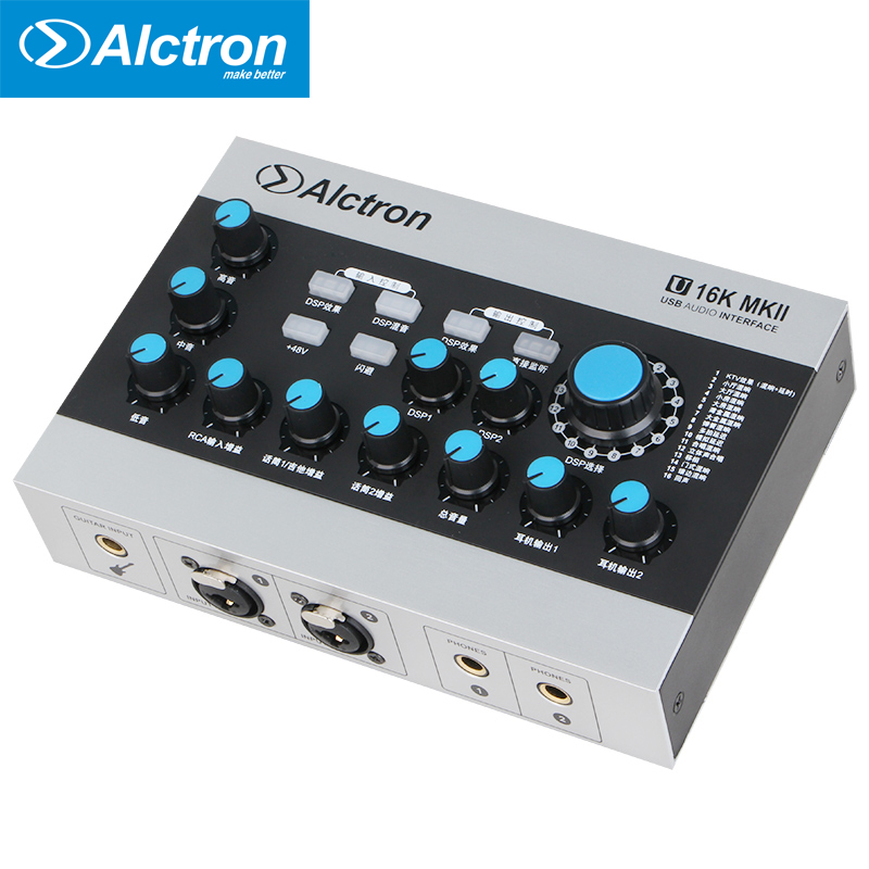 Alctron U16K MKII USB Audio Interface transforms sound card a fully featured USB audio interface professional for recording Звуковая карта