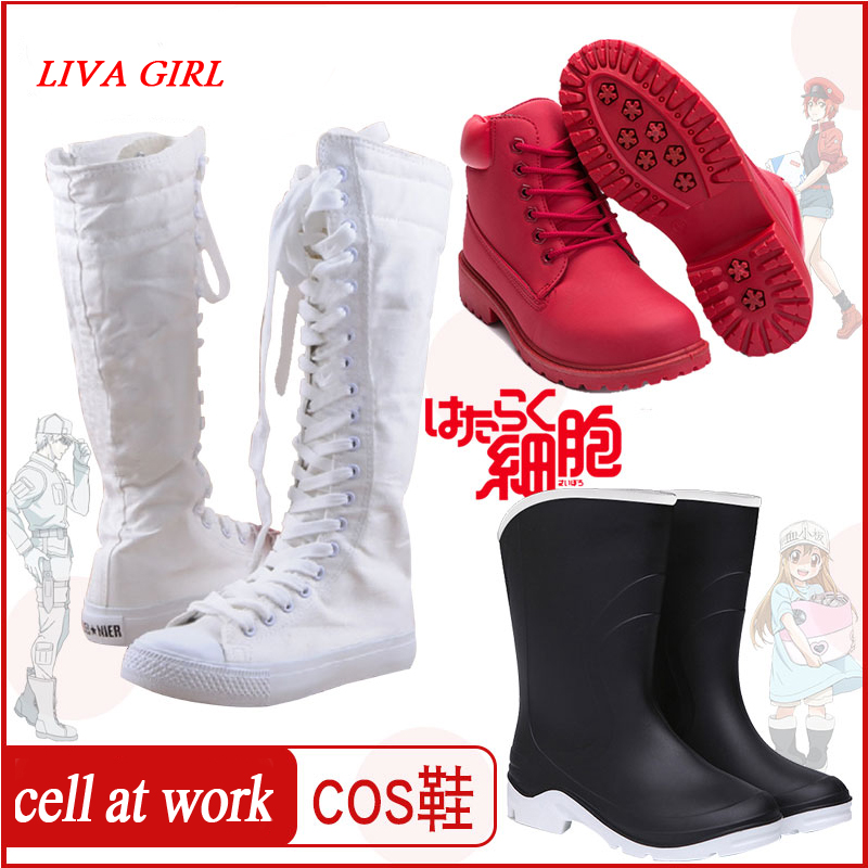 Amine Cells At Work Cosplay Shoes Blood Platelet Red Blood Cell White Blood Cell Macrophages Cell Hataraku Saibou Cosplay Shoes