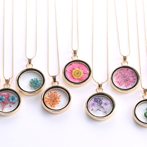 Glass Charms Pendant Necklace