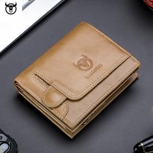 Image 3 - Cartera de cuero genuino para hombre, cartera masculina de diseño con cremallera, cartera para tarjetas y monedas de lujo