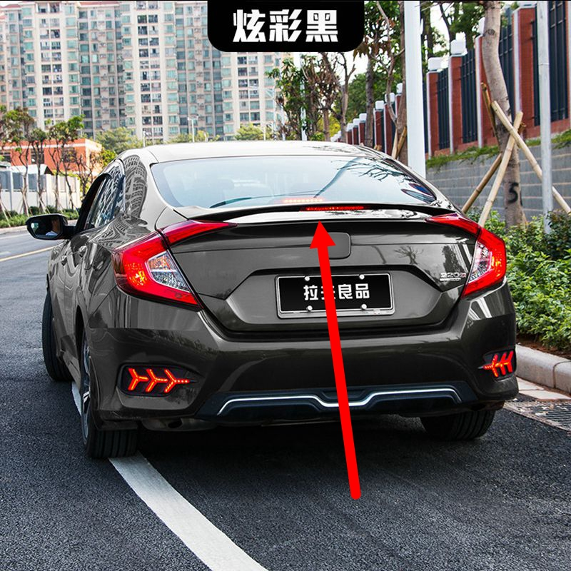 For Honda Civic Spoiler 2016 2017 Car Styling ABS Plastic Unpainted Color Rear Trunk Wing Boot Lip Roof Spoiler Auto Decoration car rear wing trunk lip spoiler for suzuki vitara 2016 2017 2018 accessories styling