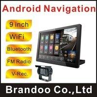 720 P 9 дюймов Wi Fi Bluetooth Дисплей грузовик Android gps навигатор с 2 Way автомобиля Камера Запись Для Автобус Грузовик большой автомобиль используется