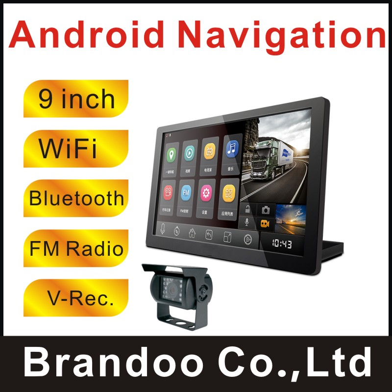 720P 9 inch WiFi Bluetooth Display Truck Android GP