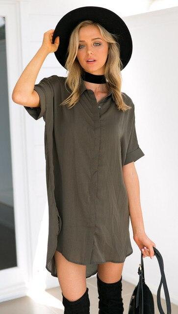 419b4080cb Camisa de Vestir de alta Moda Mujeres Chic Mangas Dolman Casual vestido de festa  feminino Monos