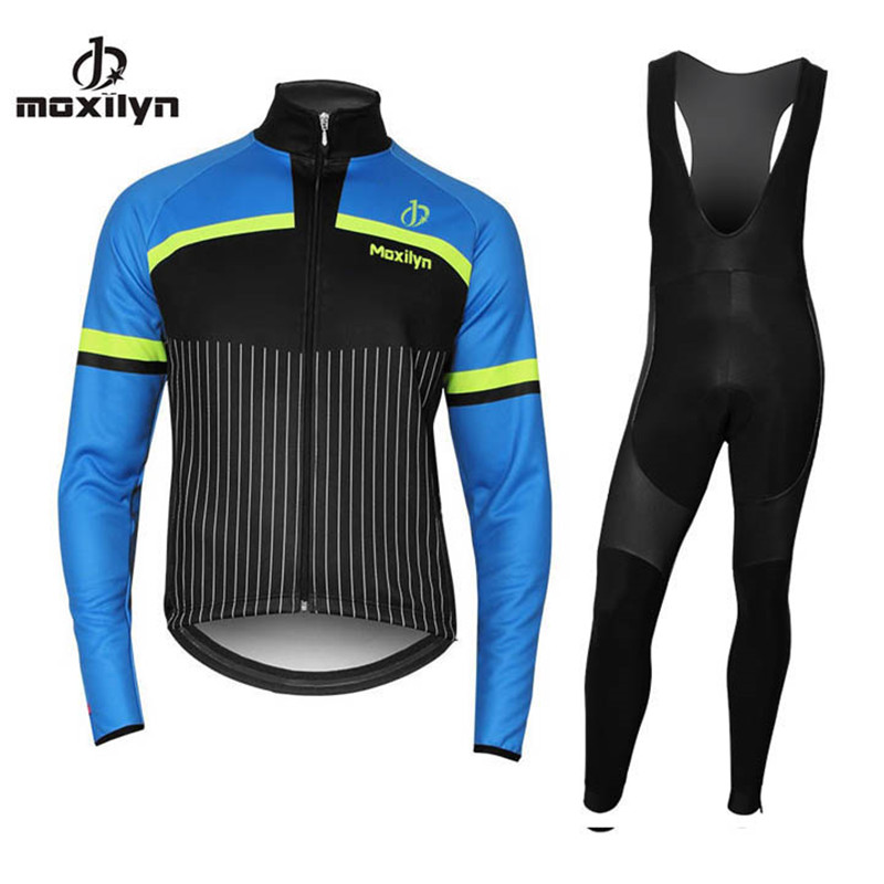 MOXILYN Bicycle Jersey Mtb Bike Riding Wear Cycling Clothing Long Sleeve Jersey Winter Thermal maillot Ropa Ciclismo 3 Color