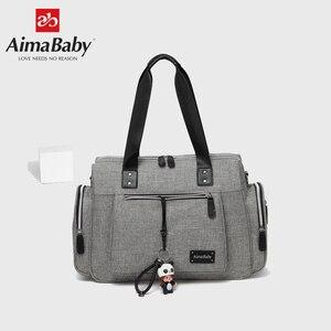 Image 4 - Luiertas детская коляска подгузник для мам вместительная сумка Органайзер для мамы + пеленка + влажная сумка + лямки для коляски