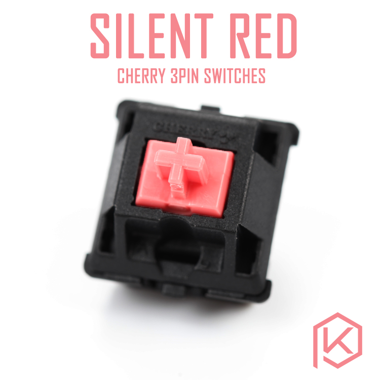 Cherry Silent Red Switch 3pin Switches For Custom Mechnical Keyboard Xd64 Xd60 Eepw84 Gh60 Tada68 Rs96 87 104 108