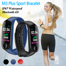 M3 Plus Sports Fitness Smart Bracelet Blood Pressure & Heart Rate Monitor Band Wristband Step Counter Watch