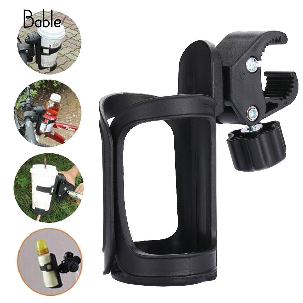 Black Baby Stroller Bottle Rack Gifts Cup Useful Stroller Bottle Rack Trolley Rotatable Infant Stroller Bottle Rack Bicycle