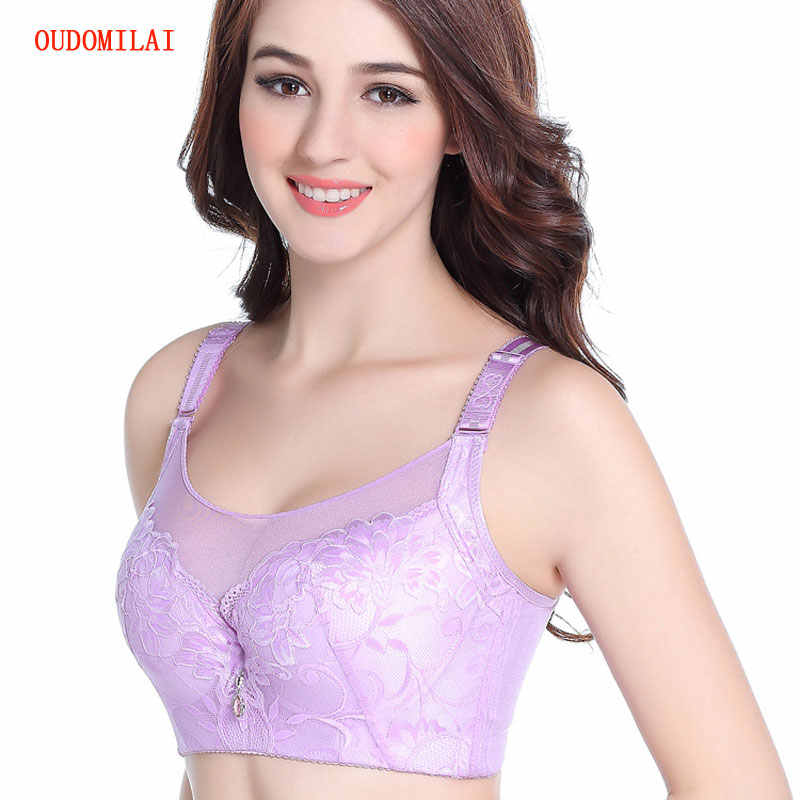 0695c158255 OUDOMILIA Fashion New Sexy Push Up Bra Big Size C D Thin Cup Plus Size Large  Breasts