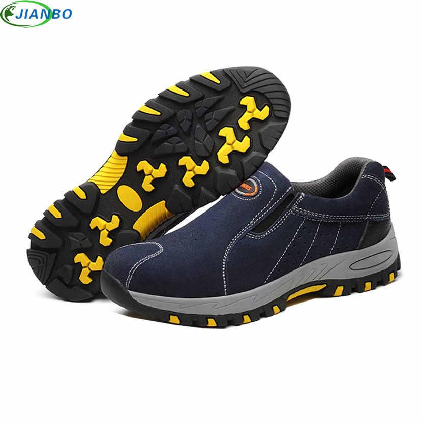eedaf91ecb4 ... Zapatos de trabajo de seguridad de punta de acero para hombre 2018  zapatillas de deporte transpirables ...