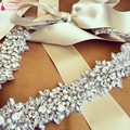 Real Photos Wedding Sash Belts Jewelry Accessories Handmade Bling Bling Crystal  Rhinestone Bridal Gown Belt Accessory
