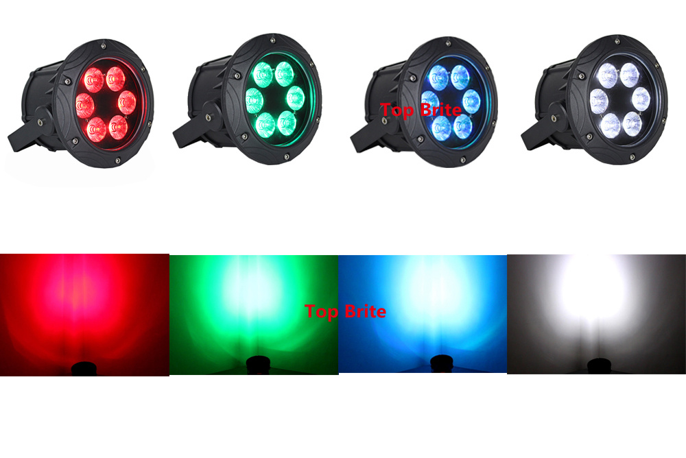 8 Units Outdoor Par Lights Hi- Quality 6X10W RGBW 4 Colors LED Flat Par Light DJ Wash Light Stage Uplighting KTV Disco DJ DMX512